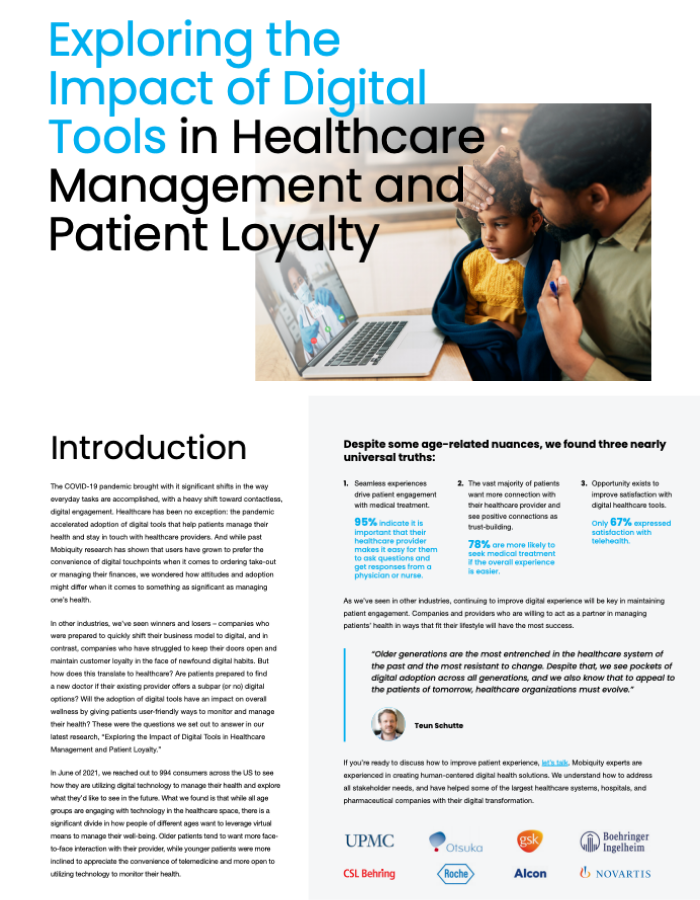 Healthcare Loyalty Research Landing Page